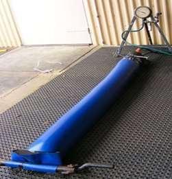 Water pressure test of Bartless Tank Liner